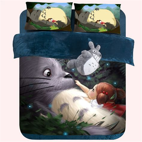 my neighbor totoro bed worm totoro bed girls bedding coral velvet duvet cover
