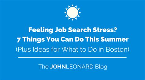 feeling search stress 7 things you can do this summer