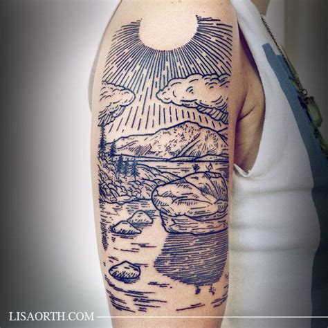 linework tattoo 20 best ideas about woodcut on line