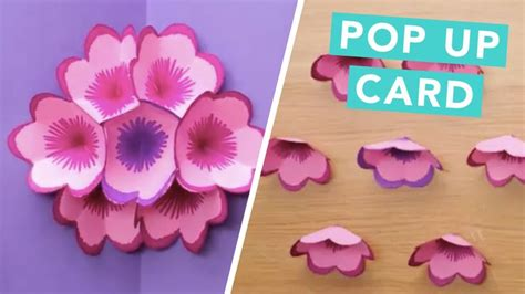 make your own pop up card create your own diy flower pop up card diy ideas for