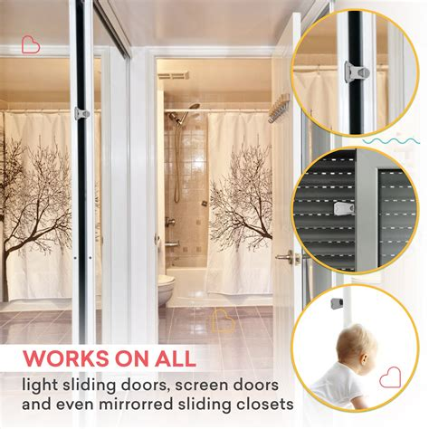 child proof closet doors sliding door lock baby proof closets window locks for children clear 4 pack 627843629702 ebay