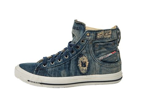 Sneakers Denim diesel sneakers magnete exposure i shoes mid denim chuck indigo ebay
