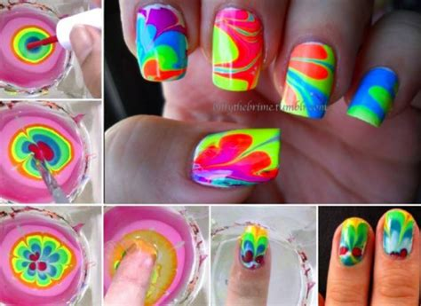 homemade nail art tutorial water marble nail art tutorial usefuldiy com