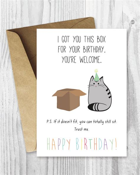 printable birthday cards cats birthday card printable happy birthday cat digital card