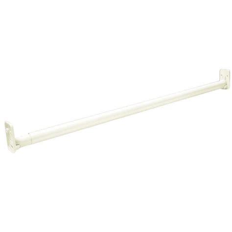 closetmaid adjustable closet rod closetmaid selectives 30 in 48 in white adjustable