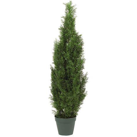 4 cedar cone shaped artificial topiary tree w pot indoor