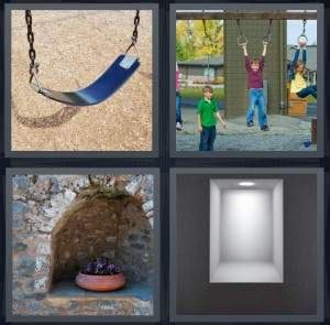 pics  word answer  swing play alcove light