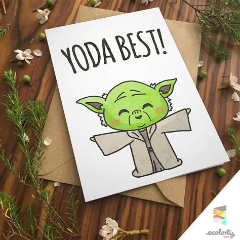 printable christmas cards for girlfriend yoda best pun greeting card star wars for boyfriend for