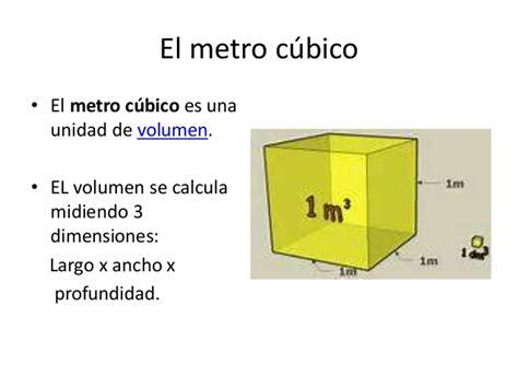 cuantos metros cuadrados tiene un metro cubico el metro c 250 bico