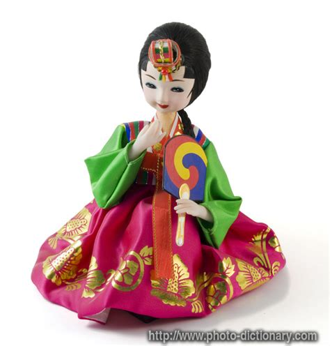 definition of doll korean doll photo picture definition at photo dictionary