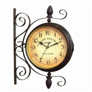antique vintage finish double sided wall clock 8 quot grand