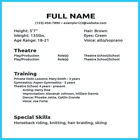 cna resume sample with no experience actors acting how to write a