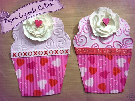 Cupcake Paper Crafts - paper cupcake cuties canary crafts