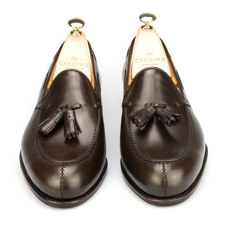 carmina loafer tassel loafers in brown calf carmina