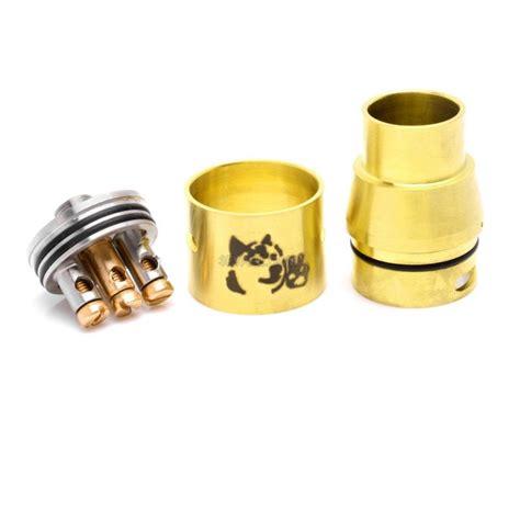 Rda Doge V2 22mm Harga doge v2 style rda rebuildable atomizer golden stainless steel 22mm diameter 3fvape
