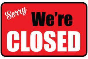 we are closed sign template sorry were closed sign template pictures to pin on