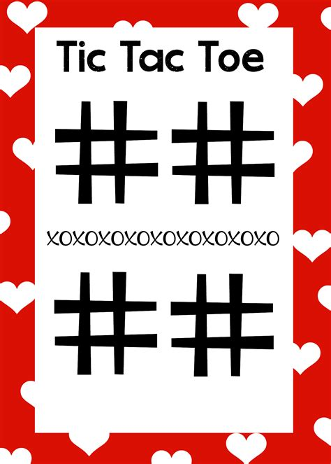 tic tac toe free printable s day word search