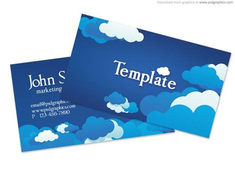 blue business card template psd blue cloudy sky business card template psd free vector