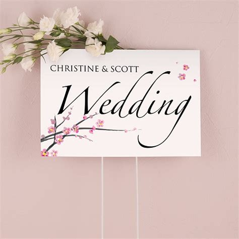 printable wedding road signs cherry blossom wedding sign confetti co uk
