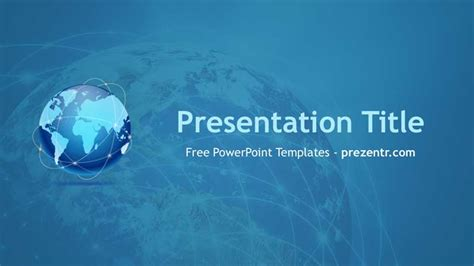 Powerpoint Themes For The Globalization | free globalization powerpoint template prezentr