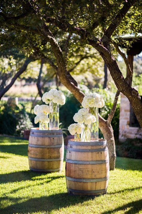 Fall Wedding Church Decorations - country wedding ideas 20 ways to use wine barrels