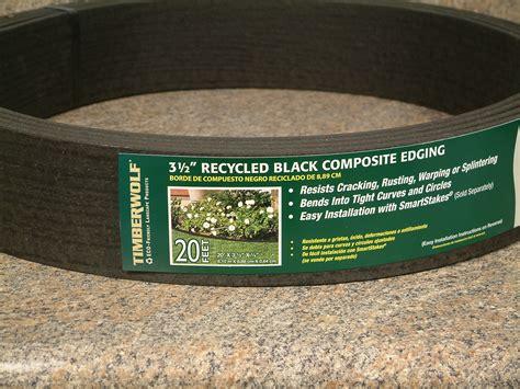 Landscape Edging Roll Timberwolf Smart Lawn Edging Black 100 Or Five 20