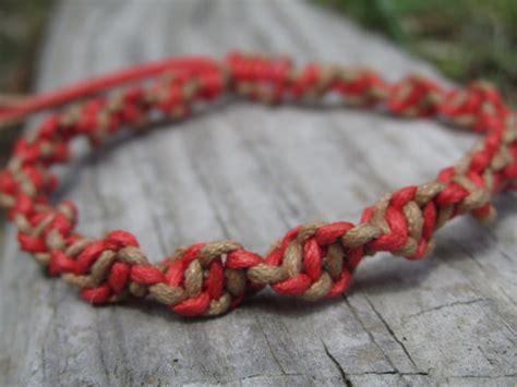 Macrame Spiral Knot - macrame bracelet spiral knot cotton cord by