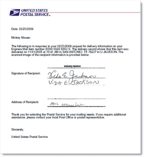 Sle Letter Proof Of Delivery Usps Proof Of Delivery What Is This And How You Will Get