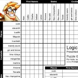 logic puzzles worksheets images