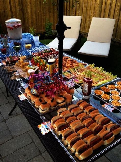 backyard party food ideas outdoor bbq i like that all of the food is quot mini
