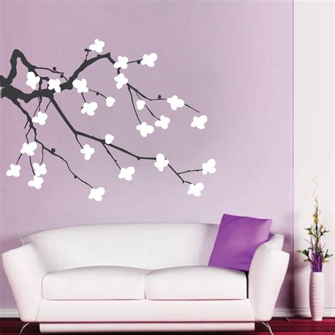 wall stickers cherry blossom cherry blossom branch wall decal trendy wall designs