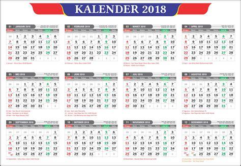 Calendar 2018 Cdr Kalender 2018 Dan Tanggalan Hijriyah Jawa Lengkap
