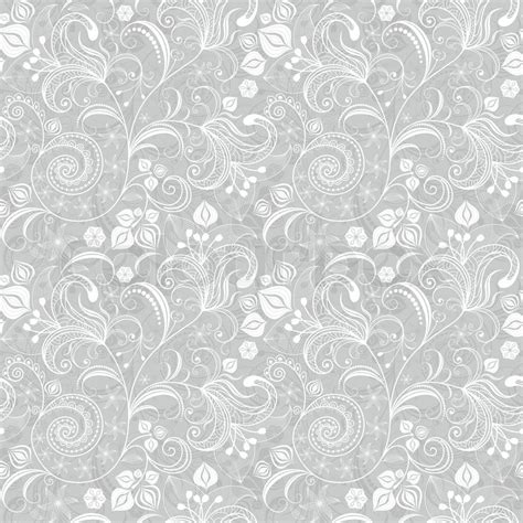 flower pattern grayscale seamless gray floral pattern stock vector colourbox