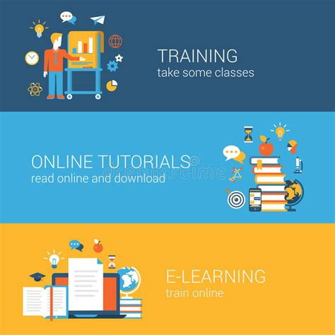 tutorial web online flat education training online tutorial e learning
