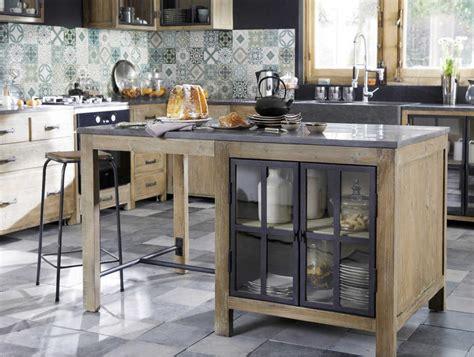 comptoir de cuisine maison du monde 206 lot central en pin recycl 233 copenhague meuble de cuisine
