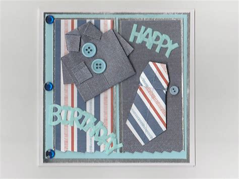 Origami Card Designs - origami shirt birthday card handmade birthday card