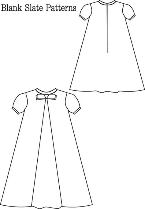 pattern empty line blank slate little bow pleat dress child s dress