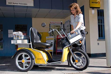 Elektro Motorrad Post by Kyburz Elektrodreirad F 220 R Die 214 Sterreichische Post E