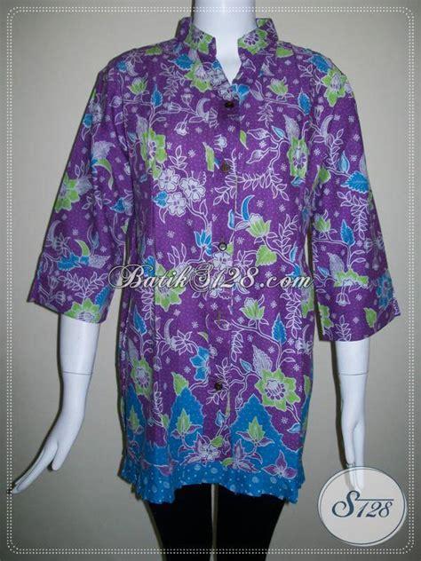 Baju Sekolah Warna Ungu blus batik warna ungu baju batik motif bunga atau batik motif floral bls352p xl toko batik