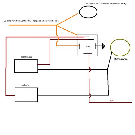 12 volt air horn wiring diagram schematic wiring diagram