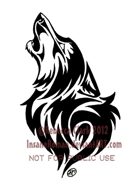 tribal wolf tattoos art tribal wolf howling