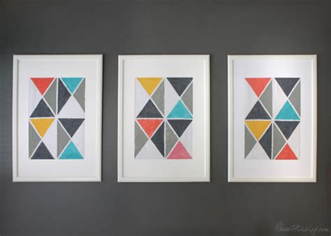 diy triangle artwork with house mix