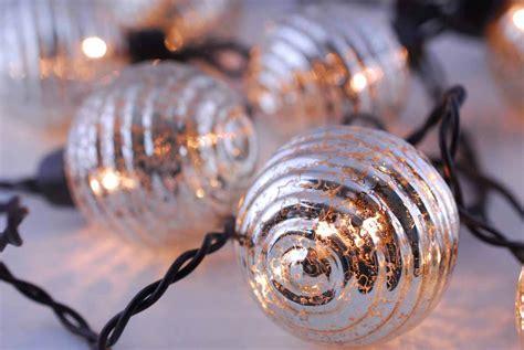 Globe Lights Mercury Glass String Light End To End 6ft Glass String Lights