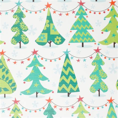 pattern design wrapper christmas trees roll wrap