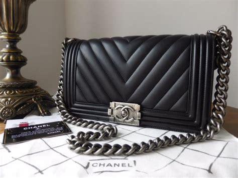 Ff Chanel Chevron Medium chanel medium boy chevron in black calfskin with ruthenium hardware sold