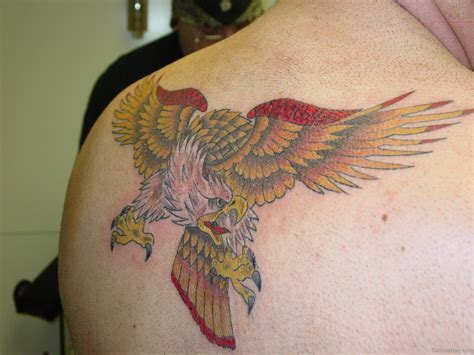 eagle back tattoo 60 impressive eagle tattoos on back
