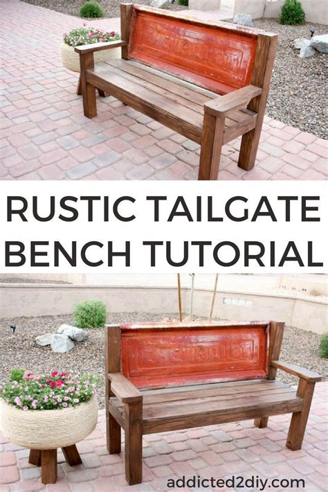 build  bench    tailgate diy bench seat