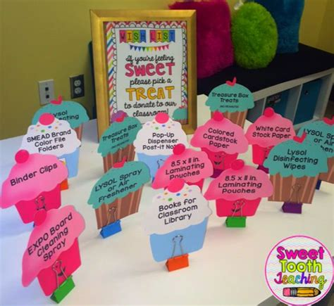 themes for open house at schools freebie cupcake wish list open house meet the teacher