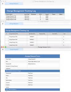 change page template change log template cr project impact report using