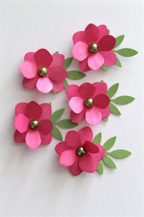 How To Make Easy Paper Flowers For Cards - diy handmade pink paper flowers make your own